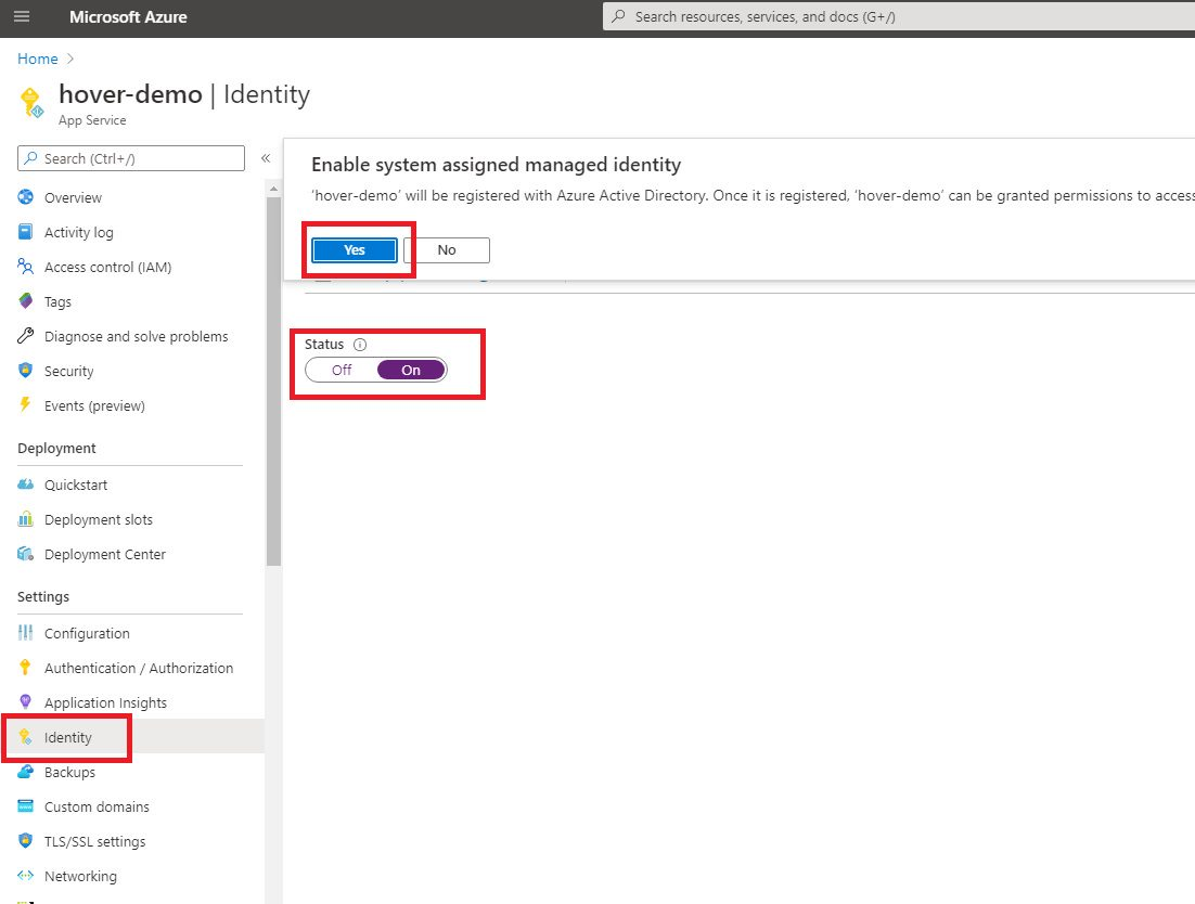 Azure App Services Configuration for Azure KeyVault with Managed Identity Step 2